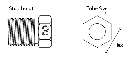 male tube nut diagram